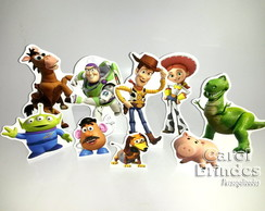 Kit c/ 9 totens em PVC c/base toy story