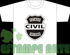 camiseta estado civil solteiro