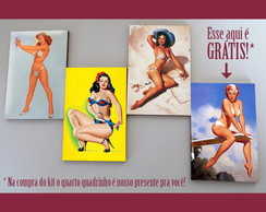 "Kit quadros pin-ups ""Bikini"""