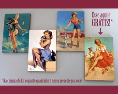 "Kit quadros pin-ups ""Cachorrinhos"""