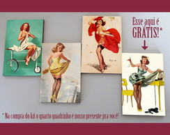 "Kit quadros pin-ups ""Oops"""