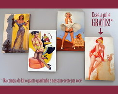 "Kit quadros pin-ups ""Pets"""