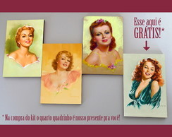 "Kit quadros pin-ups ""Portraits"""