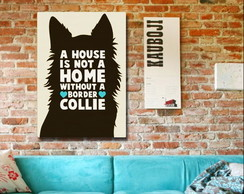 Placa Personalizada Border Collie