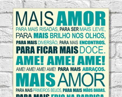 Placa Decorativa 35x25cm - Mais Amor!