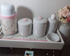 Mini Kit Porcelana Floral Off White