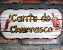 Placa Canto do Churrasco