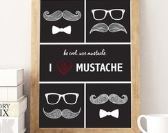 Poster I love Mustache (Digital)