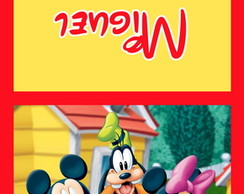 Capa para pirulitos - Turma do Mickey