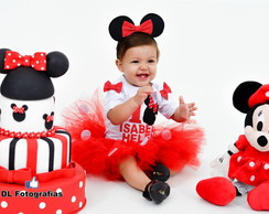 Conjunto Body e Saia Tutu Minnie