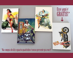 "Kit quadros pin-ups ""Motorizadas"""