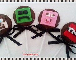 Pirulito de Chocolate Minecraft