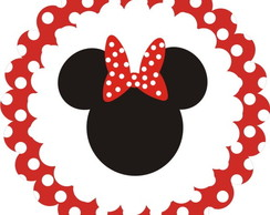 Tags Minnie em scrapbook - 5 cm