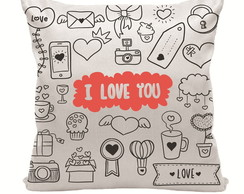 Almofada I Love You 30x30cm