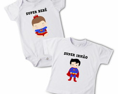 Kit Body + Camiseta Super Irmãos