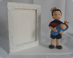 PORTA RETRATO MDF DECORADO COM BISCUIT -