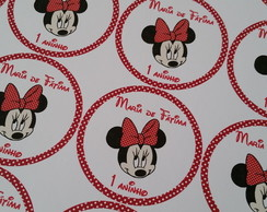 Etiquetas multiuso Minnie - Pc com 40