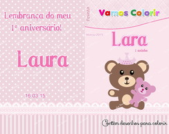 caderninho de colorir Ursa princesa