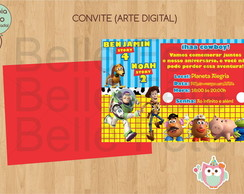 Convite Toy Story (arte Digital)