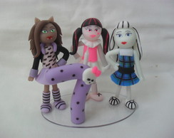 Topo De Bolo Monster High e vela