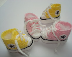 2 pares de tenis all star de croche
