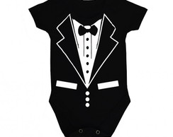 Body Preto Terninho Estiloso MC Ref 153