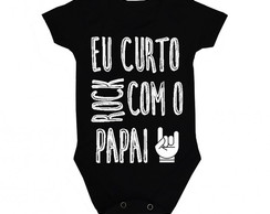 Body Preto Curto Rock com Papai Ref 189