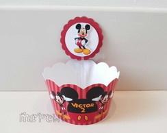 Kit Cupcake - Saia com Topper Mickey