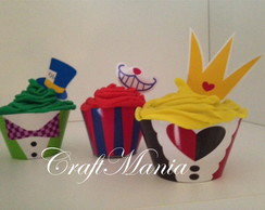 Wrapper(saia) Cupcake + Topper Alice