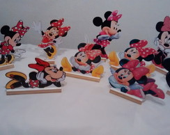 kit display mesa Minnie rosa ve 10 peças