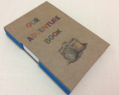 "Caderno costura Longstitch ""OUR ADVENTURE BOOK"""
