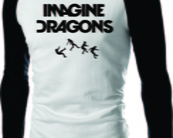 CAMISETA IMAGINE DRAGONS RAGLAN