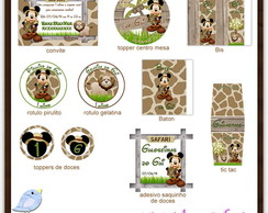Kit digital Mickey Safari | para imprimir