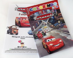 Revista Colorir Carros Disney