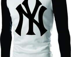 Camiseta Raglan New York Yankees