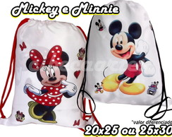 Minnie ou Mickey-25x30 Mochila
