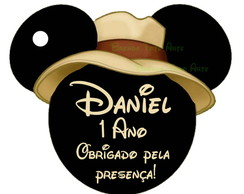 Arte Digital Tag Safari Mickey Mouse