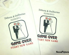 Camiseta Game Over / Start new game