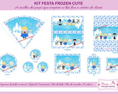 Kit Digital Frozen Cute