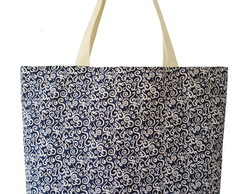 Maxi Ecobag Arabesco Azul