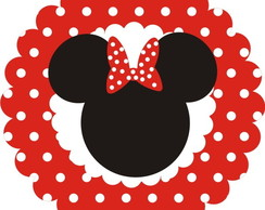 Tags Minnie em scrapbook - 4 cm