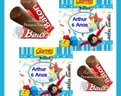 Rotulo Chocolate Baton Lego