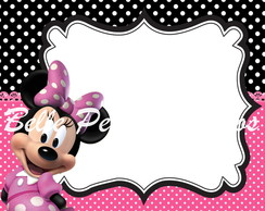 Arte convite digital Minnie