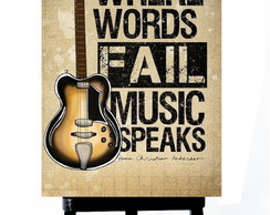 . MINI POSTER - MUSIC SPEAK