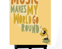 . MINI POSTER - MUSIC MAKES MY WORDS GO