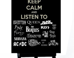 . MINI POSTER-KEEP CALM AND LISTEN ROCK