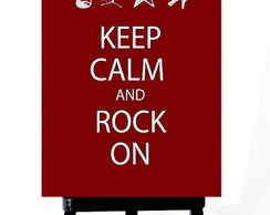 . MINI POSTER - KEEP CALM AND ROCK ON