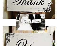 Placas para Casamento Thank You