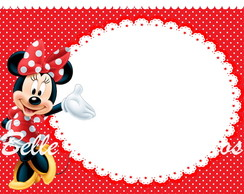 Arte digital Convite Minnie
