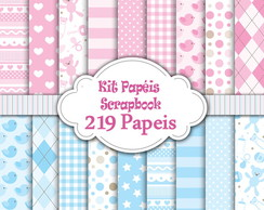 219 Kits Papéis Scrapbook Digital!